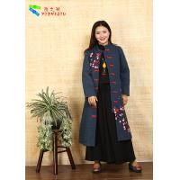 Fashion Chinese Style Embroidered Winter Coats Comfortable With Long Sleeve