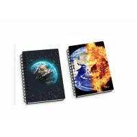 China 45 Sheets 3D Flip Notebook Lenticular Flip With A4 / A5 / A6 size Plastic Hard Cover wholesale
