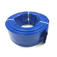 China Blue PVC Layflat Hose Aging Resistant Agricultural Irrigation PVC Water Pump Pipe For Water Discharge wholesale