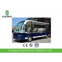 China White 11seats Left Hand Drive Electric Tourist Bus Sightseeing Buggy With Foldable Rain Shade For Resort on sale