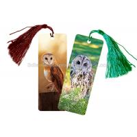 China Eco - Friendly Kids 3D Lenticular Custom Plastic Bookmarks With 0.6mm PET For Gift / Premium wholesale
