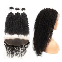 China Natural Color Kinky Curly Hair Extensions Human Hair For Black Women wholesale