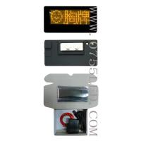 China LED Multi-language badge text card led tag led mini board Yellow 12*36 Pixel 90*45*8mm on sale