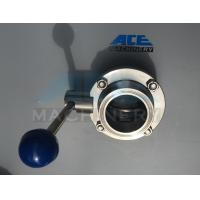 China Stainless Steel Sanitary Butterfly Valve with Weld/Nut End (ACE-DF-2D) wholesale