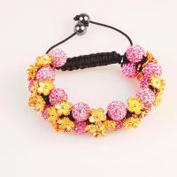 China CZ crystal & alloy flower colorful 10mm Crystal Bangle Bracelets with lower price wholesale