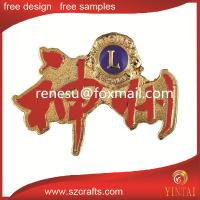 China lions club pin manufacturers wholesale