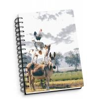 Buy cheap Depth Effect A4 A5 A6 3d Lenticular Notebook With Spiral Binding For Student Stationery from wholesalers