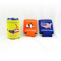 China Custom wholesale collapsible foldable neoprene beer cooler can holder size:10cmc*13cm  Material is neoprene wholesale