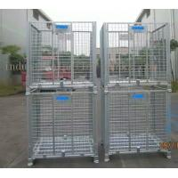 China Large Stackable Steel Wire Mesh Cage W1200 * D1000 * H890mm Galvanized Finishes wholesale