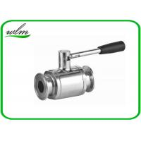 China Portable Sanitary Full Port Ball Valve , Stainless Steel Ball Valve For Food Industry Piping System wholesale