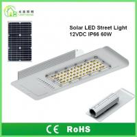 Quality IP66 Solar Energy Street LED Lights 60 W with 10 Years Warranty , TUV CE RoHS for sale