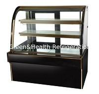 China Commercial Right Angle Cake Display Refrigerator With Back Open Glass Door wholesale