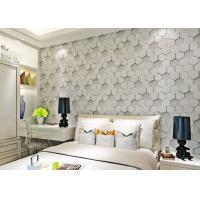 Buy cheap Greywhite Removable Modern 3D Wallpaper for Living Room 1500g Mould Proof from wholesalers