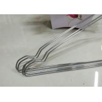 China Beautiful Plastic Coated Wire Hangers , White Metal Coat Hangers For Laundry Room wholesale