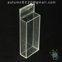 China BO (65) acrylic box with hinge lid wholesale
