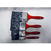 "China Customized 1"" 2"" 3"" 4"" Paint Brush For Walls With Red Lacquered Wooden Handle wholesale"