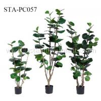 China Real Touch Artificial Decorative Trees Artificial House Plant 4 Feet 5 Feet 6 Feet Wide Leaf wholesale