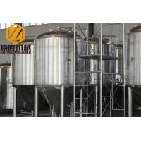 Quality Stainless Steel Large Beer Brewing Equipment , 5 Vessels Beer Making Equipment for sale