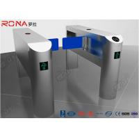 China Single Pole Half Height Turnstile , Pedestrian Turnstile Gate With Card Reader wholesale