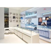 China LED Lights Decorated Custom Glass Display Cases / Shop Display Cabinets wholesale
