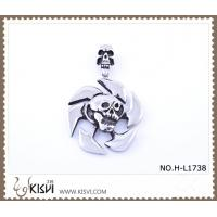China 316 stainless steel pendant with human skull shape H-L1738 wholesale