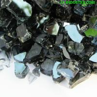 China 1/4' 1/2' Black Tempered Broken Glass for Outdoor Fire Pit on sale