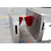 China 3 Lanes Flap Automatic Swing Barrier Gate Card Collector For Biometric Access Control wholesale