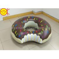 Buy cheap Gigantic Brown 120cm Inflatable Water Floats Chocolate Pink Donut Shaped product