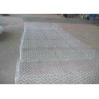 China Pvc Green Gabion Wire Mesh Panels , Wire Gabion Baskets For River 2*1*1 wholesale