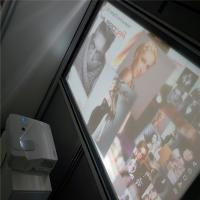 China High Contrast 3D Holographic Display Gray Rear Projection Film For Window Advertising wholesale