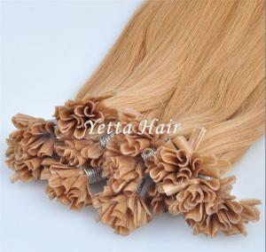 China Italian Stick U Tip Pre Bonded Hair Extensions No Shedding No Tangle wholesale