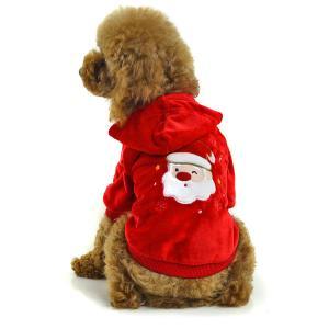 China Red dog clothes santa apparel wholesale