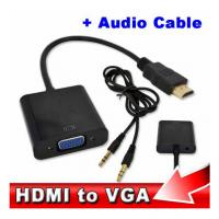 China Wholesale HDMI to VGA with Audio Cable M/F 1080p HDMI to VGA Converter for Xbox 360 PS3 wholesale