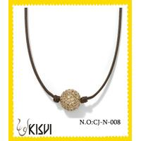 China Fashion gold & black handcrafted crystal  shamballa bead necklace for gift, party wholesale
