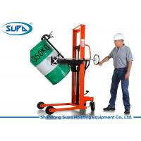 China Portable Mini Manual Forklift Stacker , Manual Hydraulic Stacker Oil Drum Rotator Type wholesale