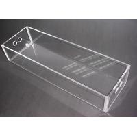 China Clear Perspex Acrylic Storage Boxes Customized Crystal For Jewelry Donation wholesale