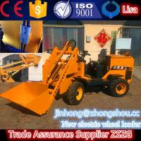 China prompt delivery Electric mini loader with 400kg/bucket , 4 Wheel mini loader battery wholesale