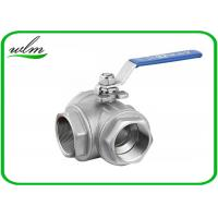Quality SS304 316L Stainless Steel Sanitary Manual Three Way Ball Valves for Hygienic for sale