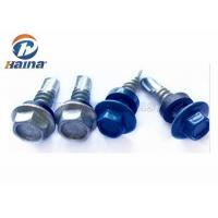 China Color Painted Roofing Tek Screws Customized , Metal Roofing Screws With Washers wholesale