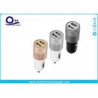 China ABS Mini Dual USB Car Charger for iPhone 5 6 6 plus Samsung Galaxy S4 S5 wholesale