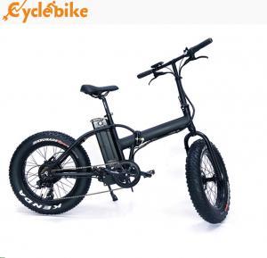 China high quliaty 48v 500w Bafang geared  motor 20inch folding mountain Fat tire electric Bike wholesale
