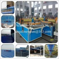 China PVC colorsteel corrugated composite roof tile/roofing sheet making machine production line wholesale