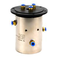 China Slip Ring of 3 Channels Rotary Union Joint Routing Oxygen & Acetylene for Automation Equipment wholesale