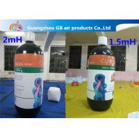 China Customized Inflatable Model Giant Advertising Inflatable Bottle Balloon For Sale wholesale