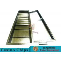 China Easy Operate Poker Chip Rack / Poker Table Chip Tray With Single Lock Encryption wholesale