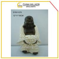 Buy cheap Resin Cute Happy Buddha for Desktop Decoration from wholesalers