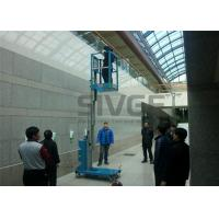 China Hydraulic Single Mast Aerial Work Platform 160kg Load 6m Height For Warehouses wholesale