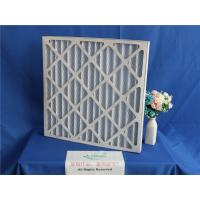China Aluminum Frame Plank Metal Mesh Pre Filter , Foldaway Pleated Panel Air Filters wholesale