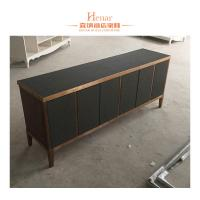 China Black Modern Console Table With Storage Drawers And Shelf , Cabinet wholesale
