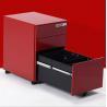 China Fire Safe 3 Drawer Movable Under Desk Metal Filing Cabinet on Wheels wholesale